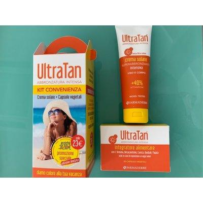 ULTRA TAN KIT 2 PEZZI ULTRATAN CREMA INTENSIVA 125 ML + ULTRA TAN 30 COMPRESSE