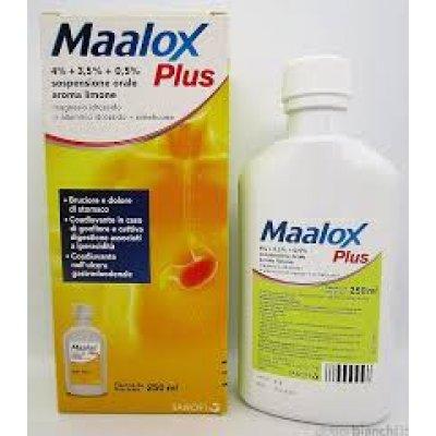 MAALOX PLUS*os sosp 250 ml 4% + 3,5% + 0,5%