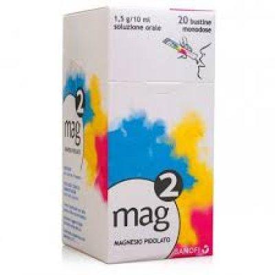 MAG 2*os soluz 20 bustine monodose 10 ml 1,5 g/10 ml