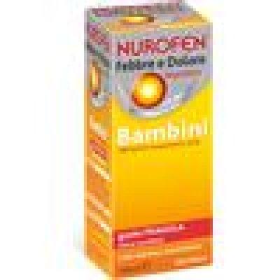 NUROFEN FEBBRE E DOLORE*orale sosp 100 ml 200 mg/5 ml fragola senza zucchero con siringa dosatrice