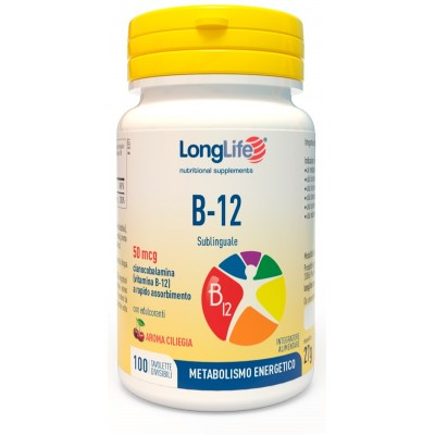 LONGLIFE B12 50MCG SUBL 100CPR
