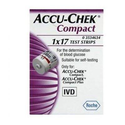 ACCU CHEK COMPACT STRISC 17PZ