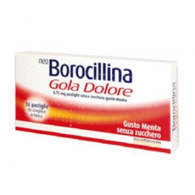 NEOBOROCILLINA GOLA DOLORE*16 pastiglie 8,75 mg menta senzazucchero