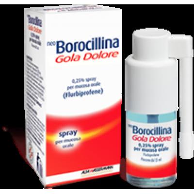 NEOBOROCILLINA GOLA DOLORE*1 flaconcino spray 15 ml 37,5 mgmenta