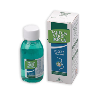 TANTUM VERDE BOCCA*colluttorio 240 ml 22,5 mg/15 ml + 7,5 mg/15 ml