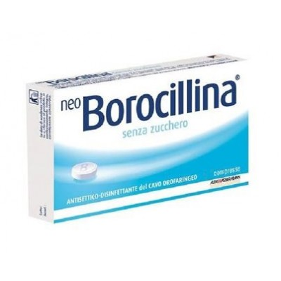 NEOBOROCILLINA*16 pastiglie 1,2 mg + 20 mg senza zucchero