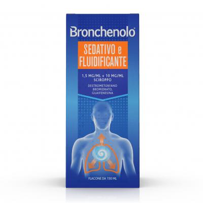 BRONCHENOLO SEDATIVO E FLUIDIFICANTE*sciroppo 150 ml 1,5 mg/ml + 10 mg/ml