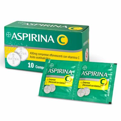 ASPIRINA C*10 cpr eff 400 mg + 240 mg con vitamina C