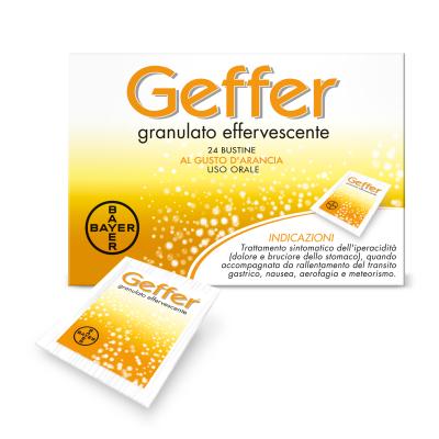 GEFFER*os granulato effervescente 24 bustine 5 g